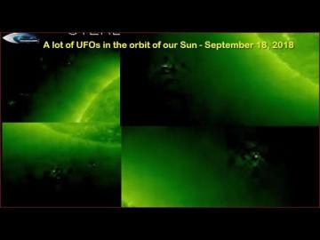 НЛО у Солнца 18 сентября 2018