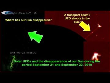 НЛО у Солнца 21 сентября 2018