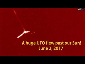 НЛО у Солнца 2 июня 2017