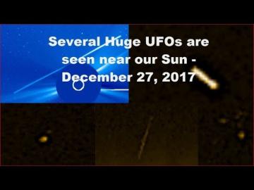 НЛО у Солнца 27 декабря 2017