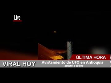 Огненный НЛО над Колумбией