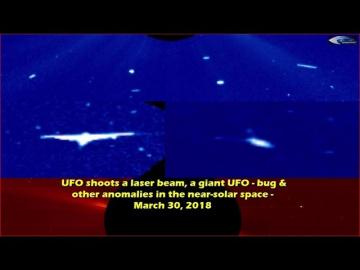 НЛО у Солнца 30 марта 2018
