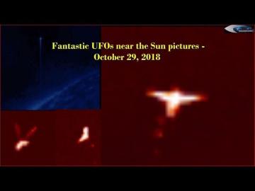 НЛО у Солнца 29 октября 2018