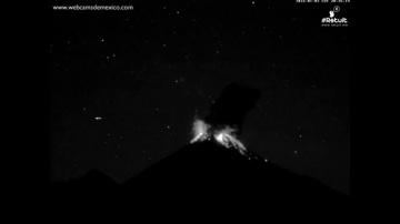 Сигарообразный НЛО вызвал извержение вулкана Колима