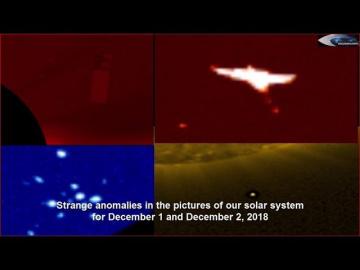 НЛО у Солнца 1 и 2 декабря 2018