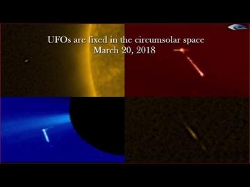 НЛО у Солнца 20 марта 2018