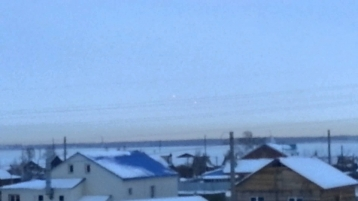 НЛО в небе над уральским селом