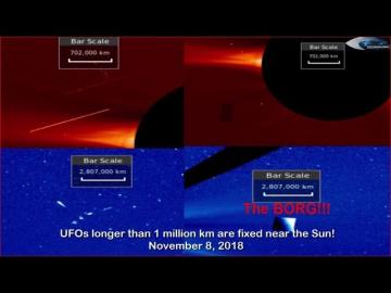 НЛО у Солнца 8 ноября 2018
