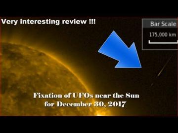НЛО у Солнца 30 декабря 2017