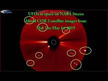 НЛО у Солнца 5 -14 Мая 2019