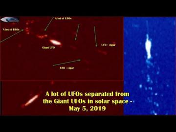 НЛО у Солнца 5 Мая 2019